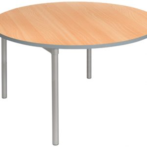 Gopak Enviro Round Dining Tables, 120dia (cm), Mid Grey/Beech, Free Standard Delivery