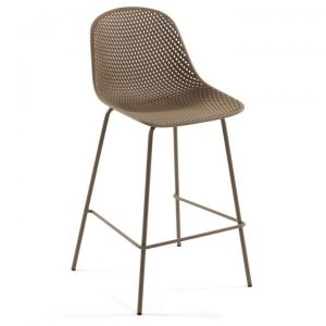 Mercer Indoor / Outdoor Bar Stool, Beige