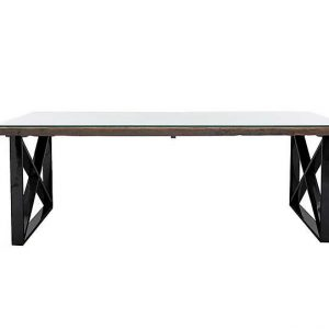 Noir Dining Table with X-shaped Legs - 220-cm