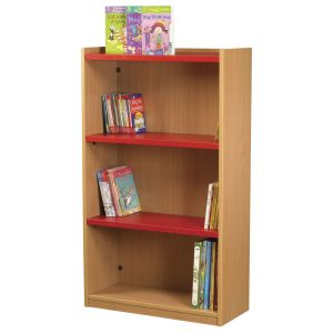 Nucleus Single Sided Bookcase, Blue, Free Standard Delivery