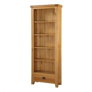 Acorn Large Wooden Bookcase In Light Oak