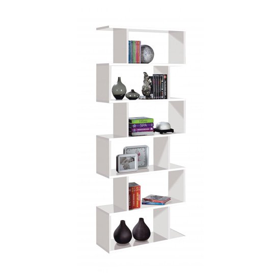 Arctic Wooden Bookcase In White
