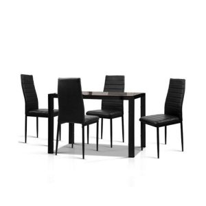 Artiss 5 Piece Dining Table Set