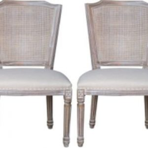 Asbury Whitewashed Fabric Dining Chair (Pair)