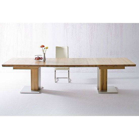 Bari Extendable Dining Table Rectangular In Solid Oak