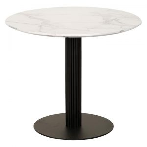 Elsie Round Marble Effect Dining Table