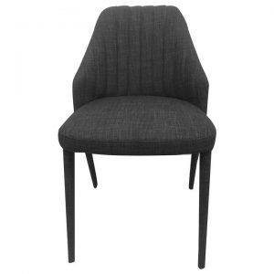 Genoa Commercial Grade Stackable Fabric Dining Chair, Charcoal