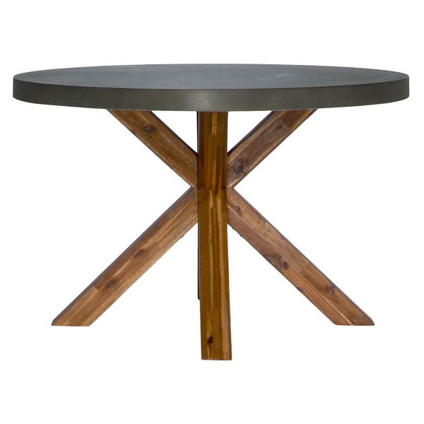 Havelock Dining Table Size W 120cm x D 120cm x H 75cm in Grey Freedom
