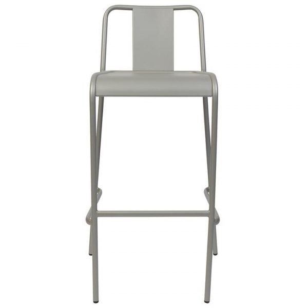 Lingotto Commercial Grade Aluminium Indoor / Outdoor Bar Stool, Titanium