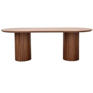 Pablo Wooden Oval Dining Table, 220cm