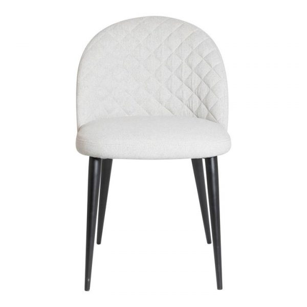Paolo Commercial Grade Fabric Dining Chair, Silver