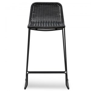 Belmont Rattan & Metal Counter Stool, Black