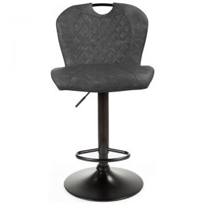 Bishop Fabric & Metal Gas Lift Counter / Bar Stool, Black