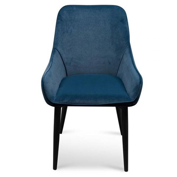 Caribou Velvet Fabric Dining Chair, Navy