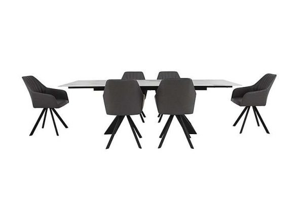 Chamonix Extending Dining Table and 6 Chairs - White