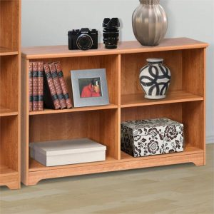 Cubic Low Bookcase, Honey Maple