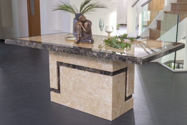 Florence Cream Marble 160cm Rectangular Dining Table