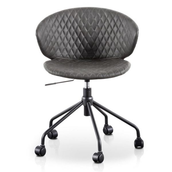 Gartel PU Leather Office Chair, Charcoal / Black