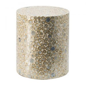 Harwich Capiz Accent Stool / Side Table