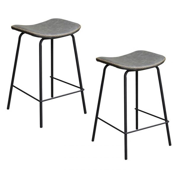 Industriale Faux Leather Bar Stool (Set of 2)