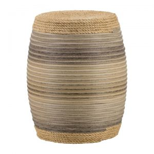 Kirton Rattan Drum Stool / Side Table