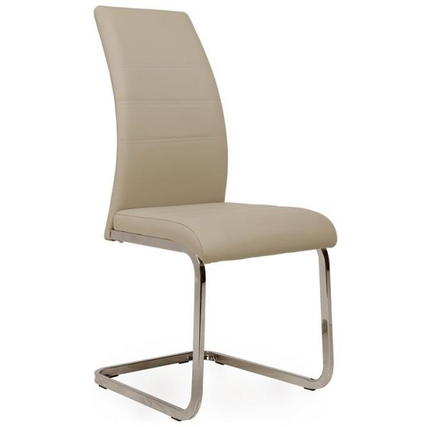 Morton Faux Leather Dining Chair, Cappuccino