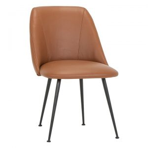 Nobu Dining Chair, Leather, Tan