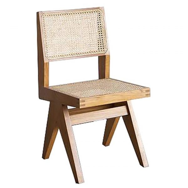 Normann Wood & Rattan Dining Chair, Natural