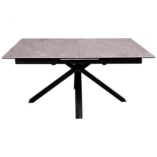 Northville Ceramic Topped Metal Extension Dining Table, 160-200cm