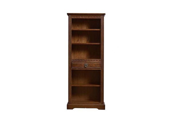 Old Charm Aldeburgh Narrow Bookcase - Brown