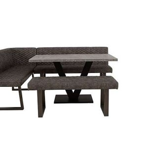 Rocket Dining Table, Compact Earth Low Bench and Compact Earth Left Hand Facing Corner Bench Dining Set