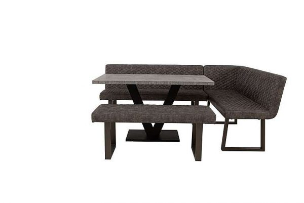 Rocket Dining Table, Compact Earth Low Bench and Compact Earth Right Hand Facing Corner Bench Dining Set