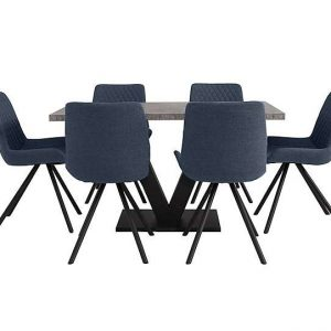 Rocket Dining Table and 6 Chairs Dining Set