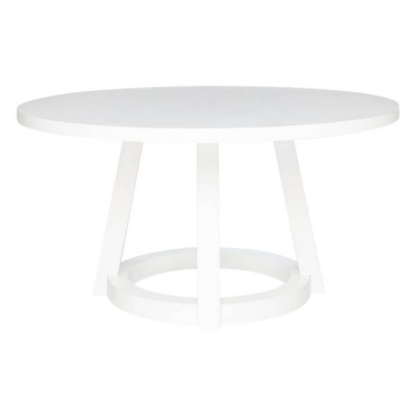 Roundhouse Iii Diameter Dining Table Size W 150cm x D 150cm x H 75cm in White Freedom