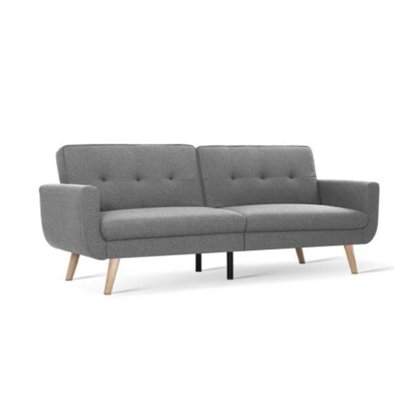 Sofa Bed Lounge Set Couch Futon 3 Seater Fabric Recliner 197 Cm