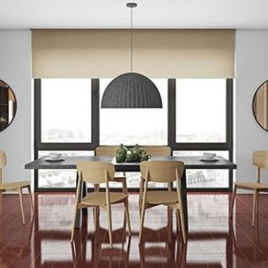 Temahome Apex Concrete Melamine Extending Dining Table and 6 Sally Oak Chairs