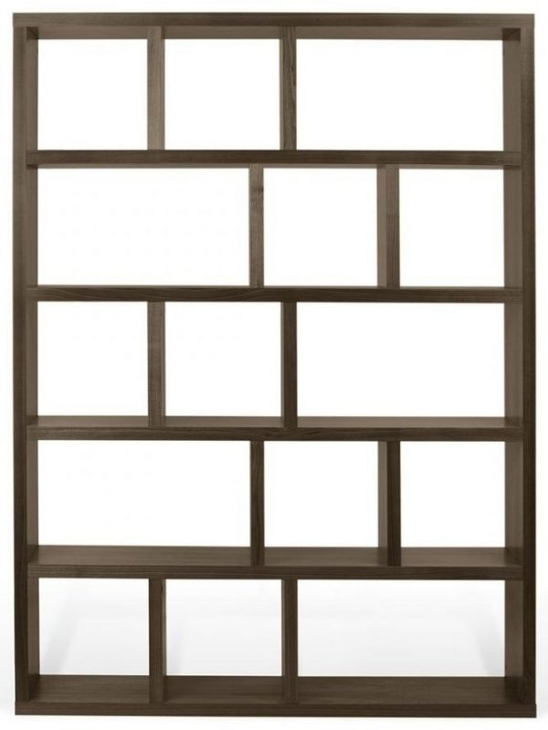 Temahome Berlin Walnut Wide 5 level Bookcase