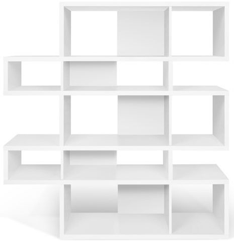 Temahome London White Double Bookcase