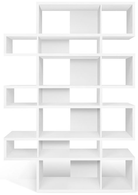Temahome London White Triple Bookcase