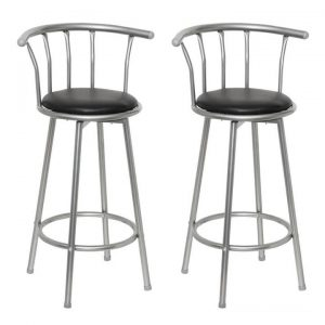 2 Bar stools leather steel | Afterpay | zip | Laybuy
