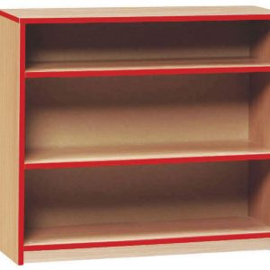 2 Shelf Coloured Edge Bookcase, Beech/Green