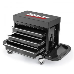 2 in 1 Rolling Metal Tool Box and Stool | Afterpay | zipPay | Oxipay