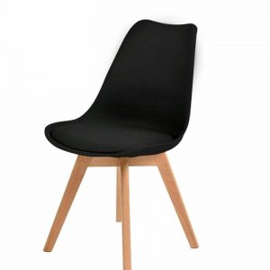 2x Retro Replica Eames PU Leather Dining Chair Office Cafe Lounge Chairs
