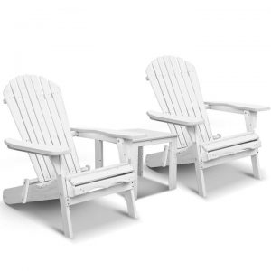 3 Piece Outdoor Adirondack Chair and Tabl | Afterpay | zipPay | PayItLater