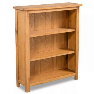 3-Tier Bookcase 70x22,5x82 cm Solid Oak Wood | Afterpay | zip | Laybuy