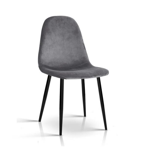 4 X Dining Chairs Dark Grey