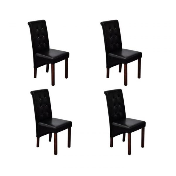 4 x dining chairs black | Afterpay | zip | Laybuy