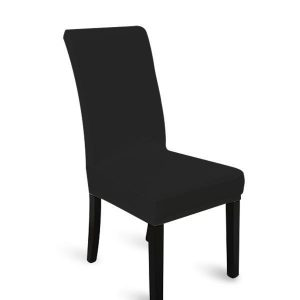 4pcs Stretch Elastic Dining Room Washable Chair Cover BLACK