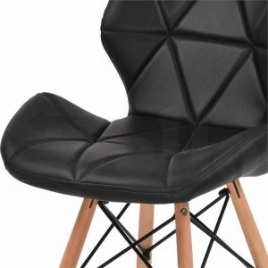 4x Retro Replica Eames PU Leather Dining Chair Office Cafe Lounge Chairs