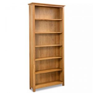 6-Tier Bookcase 80x22,5x180 cm Solid Oak Wood | Afterpay | zip |